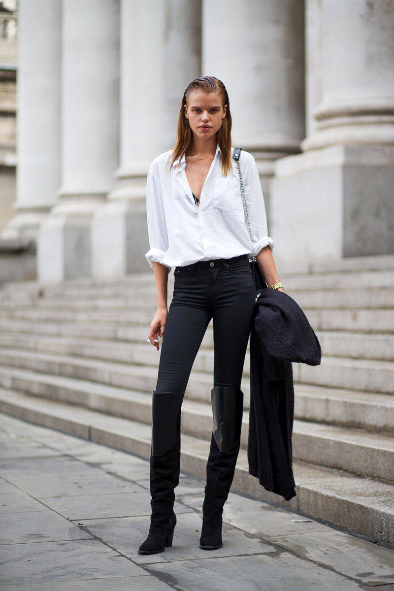 London Fashion Week Spring 2015 Street Style 16