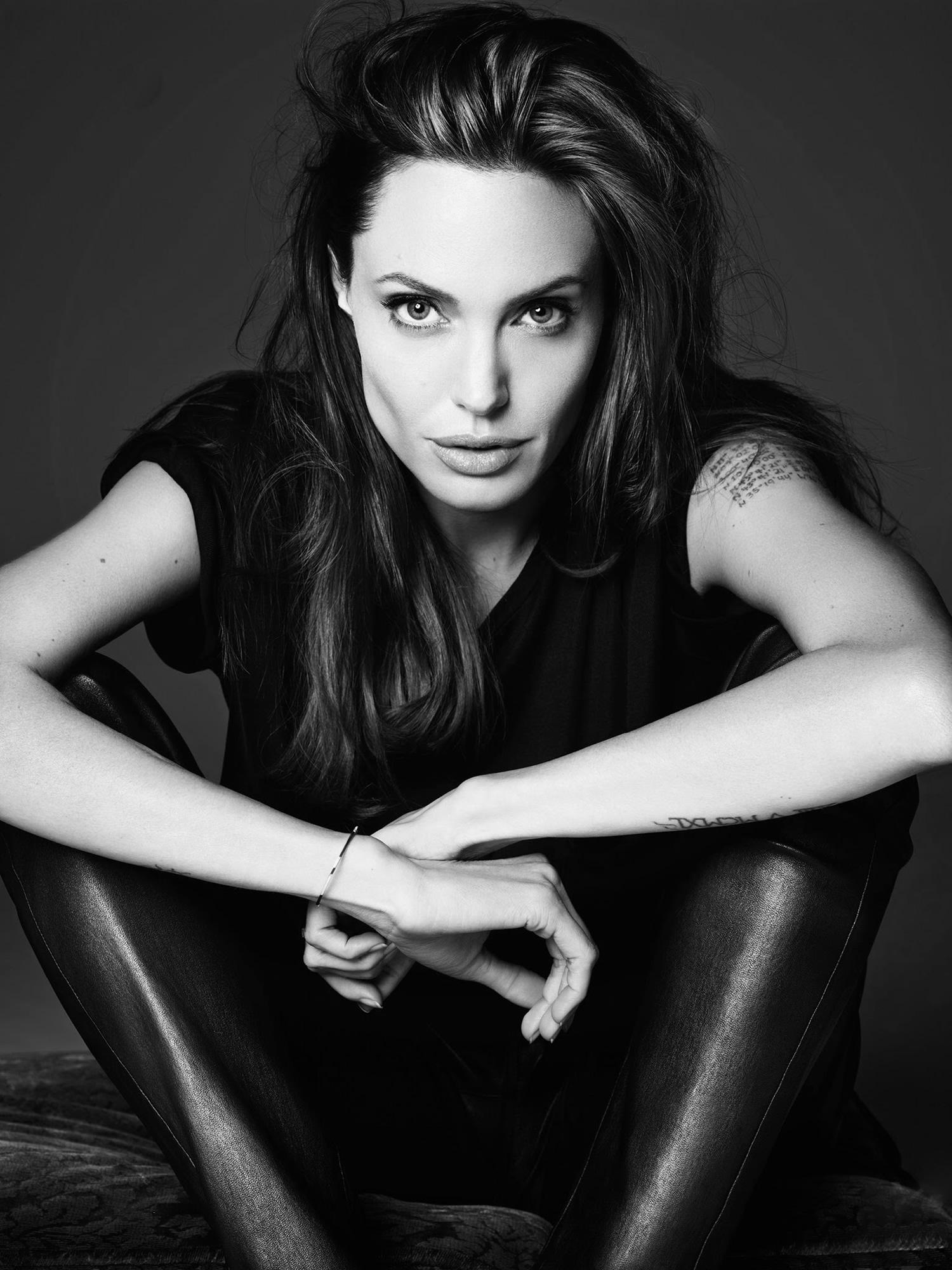 Angelina Jolie by Hedi Slimane for Elle US June 2014