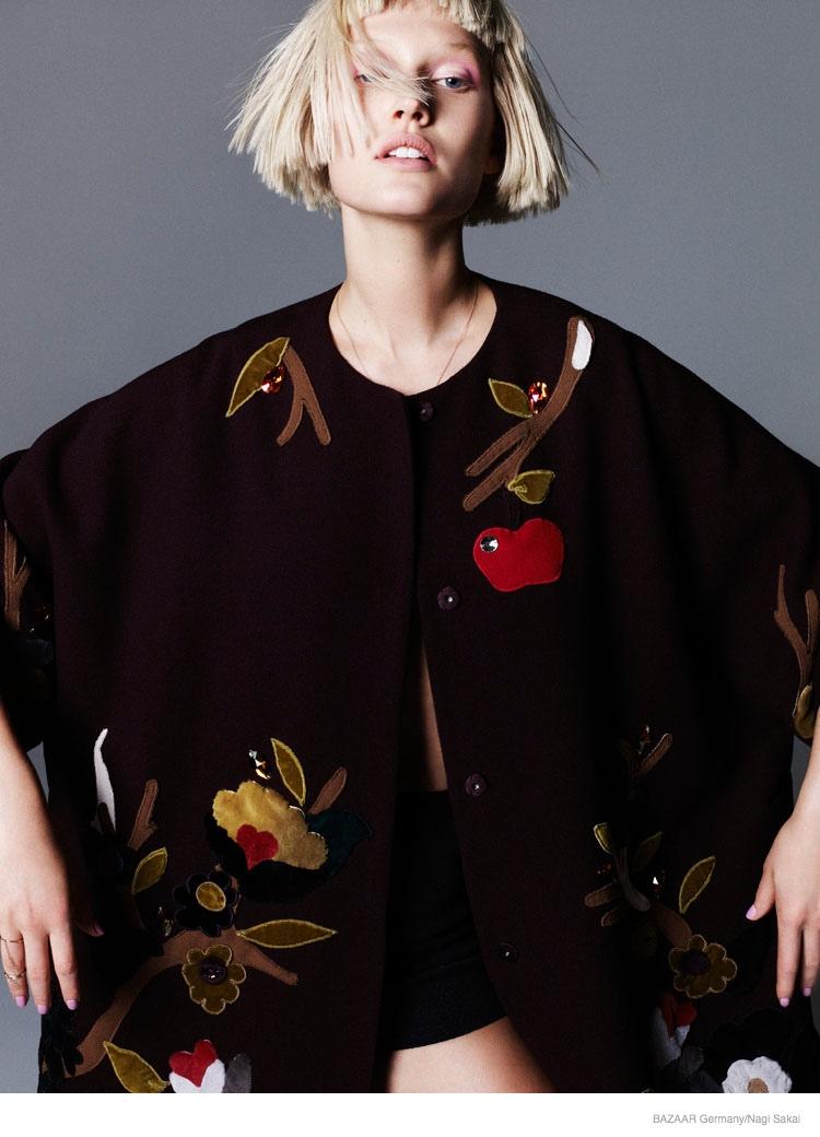 Toni Garrn For Harper's Bazaar Germany September 2014 (1)
