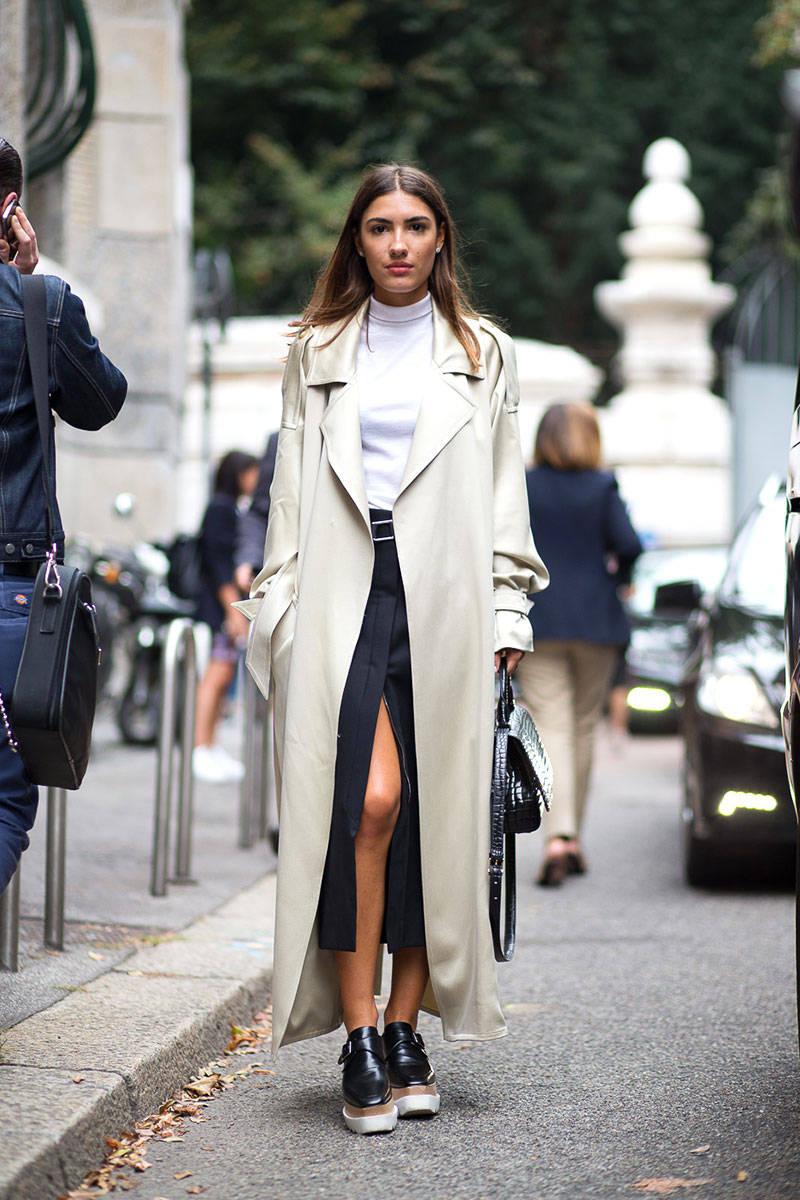 Milan Fashion Week Spring 2015 Street Style 29 Minimal Visual