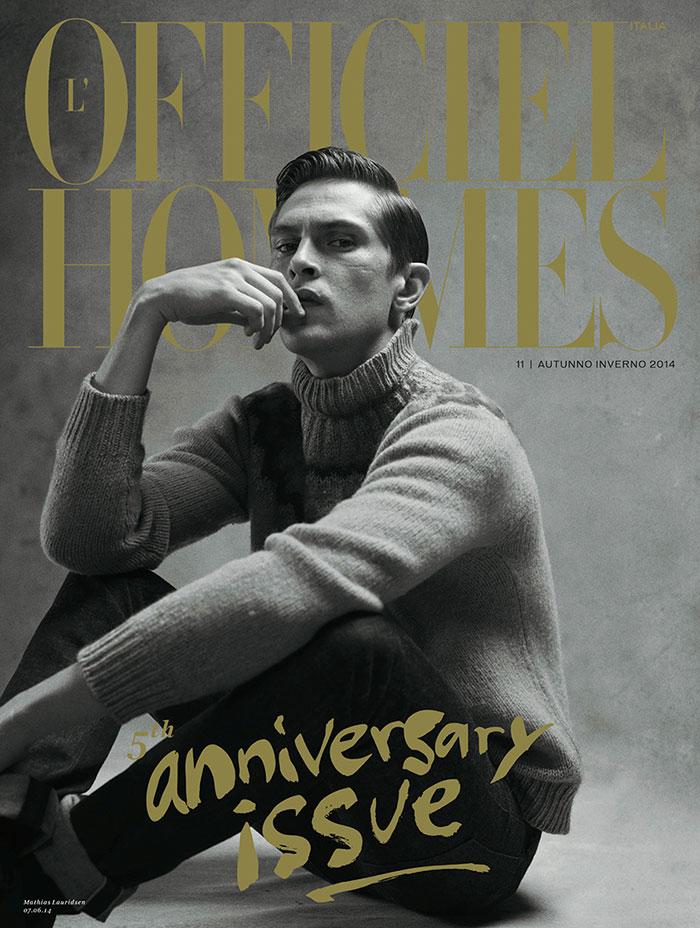 L'Officiel Hommes Italia FW 2014 Covers Mathias Lauridsen