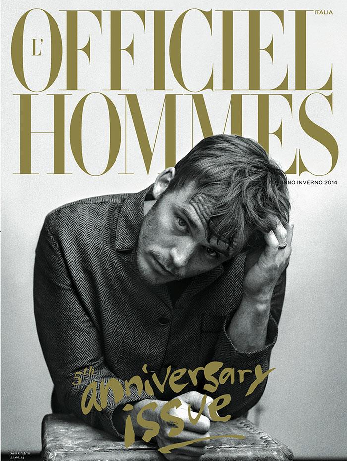 L'Officiel Hommes Italia FW 2014 Covers Sam Claflin