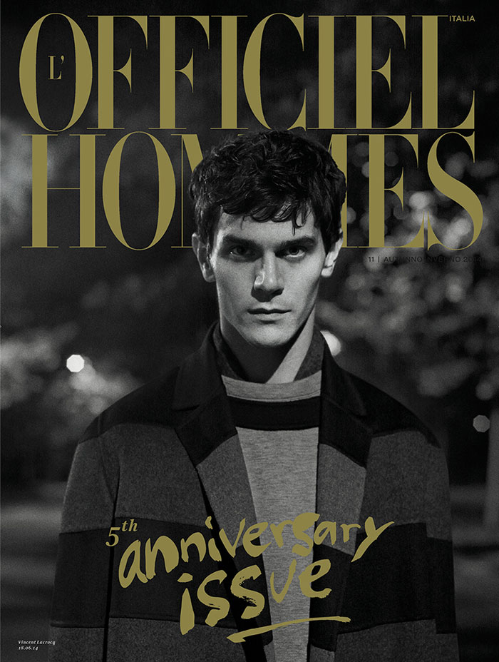 L'Officiel Hommes Italia FW 2014 Covers Vincent Lacrocq