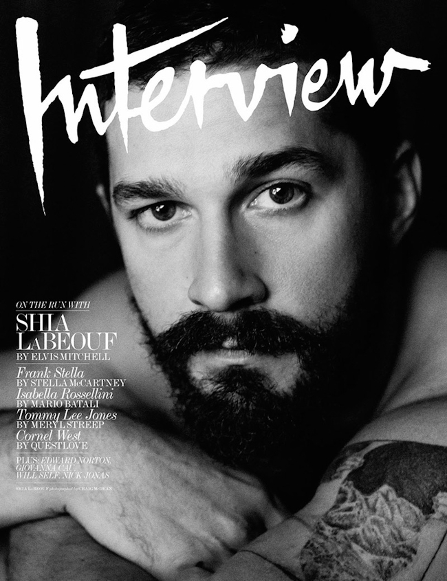 Shia LaBeouf by Craig McDean For Interview Magazine (1)