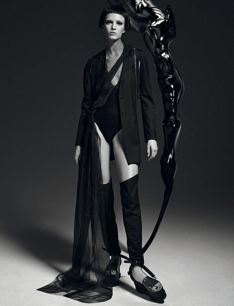 Daria Strokous By Daniel Sannwald For Numero February 2015 Minimal Visual