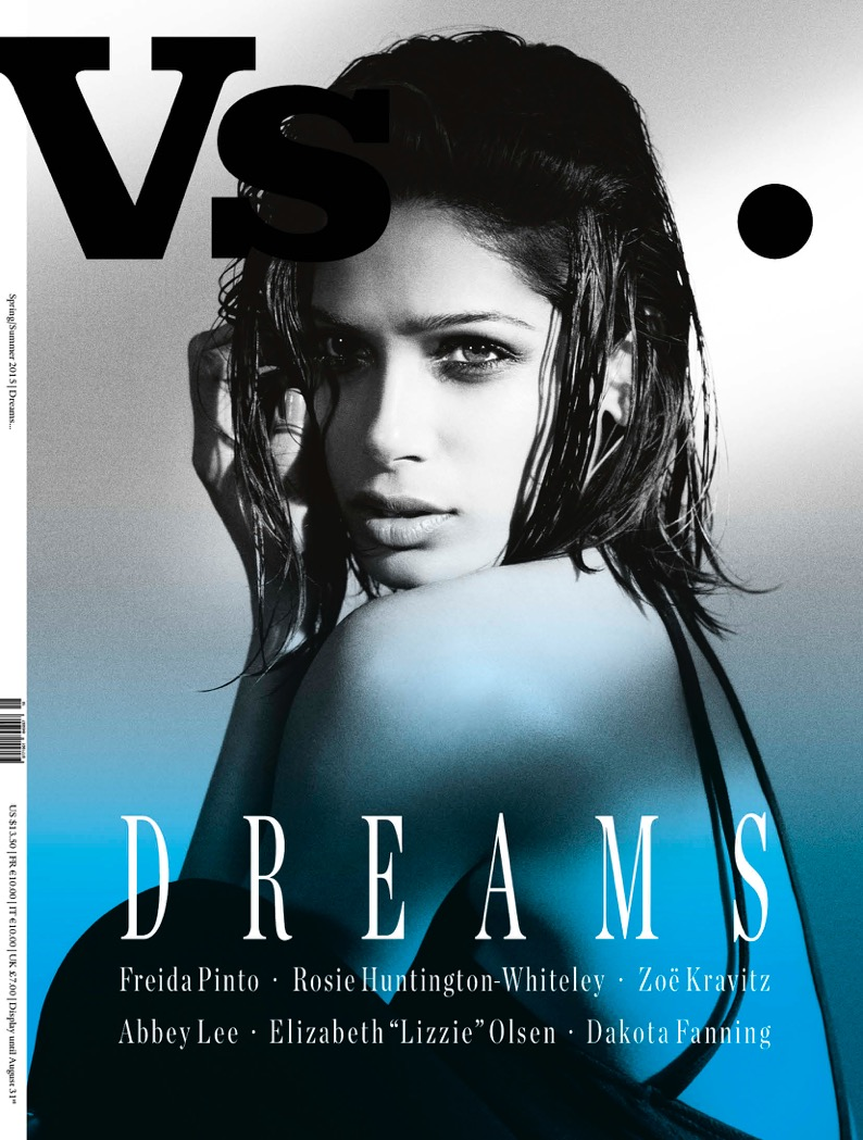 Freida Pinto by Bruno Dayan for Vs. Magazine Spring-Summer 2015 - Celebrity Dreams Covers