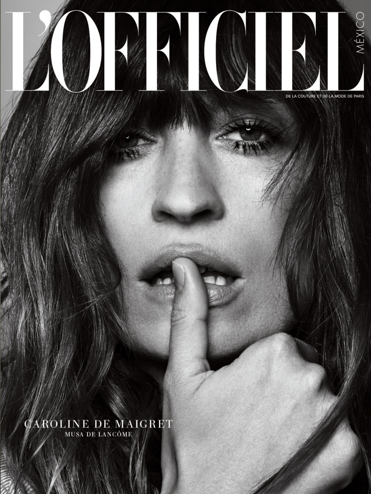 Caroline de Maigret Covers L'Officiel Mexico March 2015 Anniversary Issue (1)