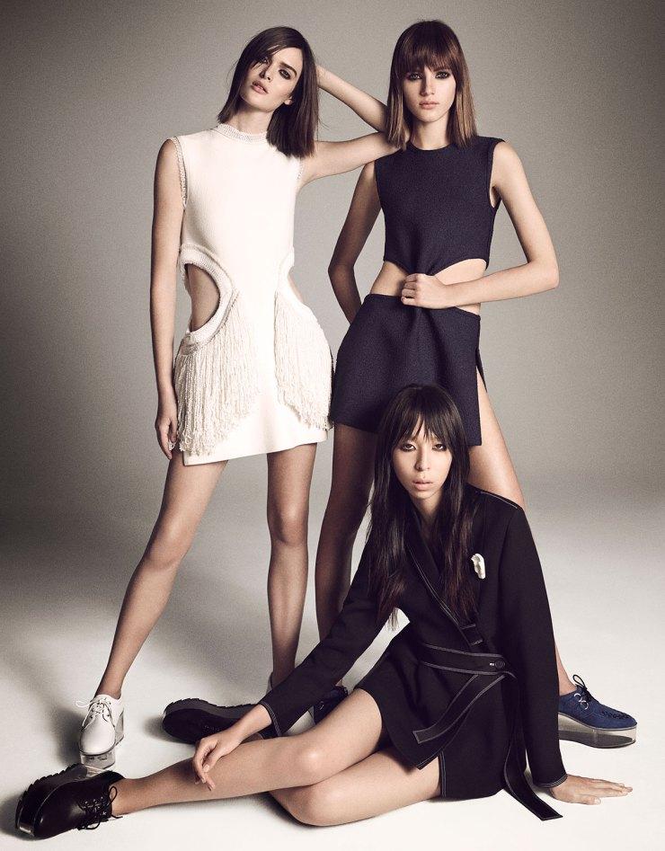Sam Rollinson, Valery Kaufman, Issa Lish By Luigi Murenu & Iango Henzi for Vogue Japan April 2015