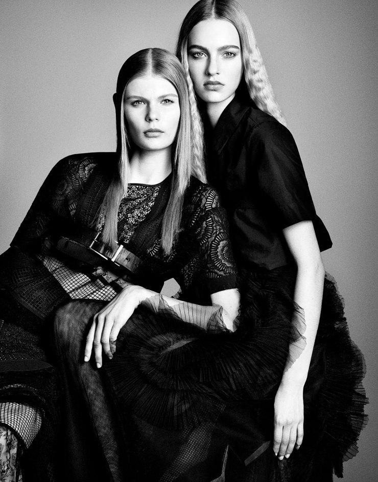 Alexandra Elizabeth and Maartje Verhoef By Luigi Murenu & Iango Henzi for Vogue Japan April 2015