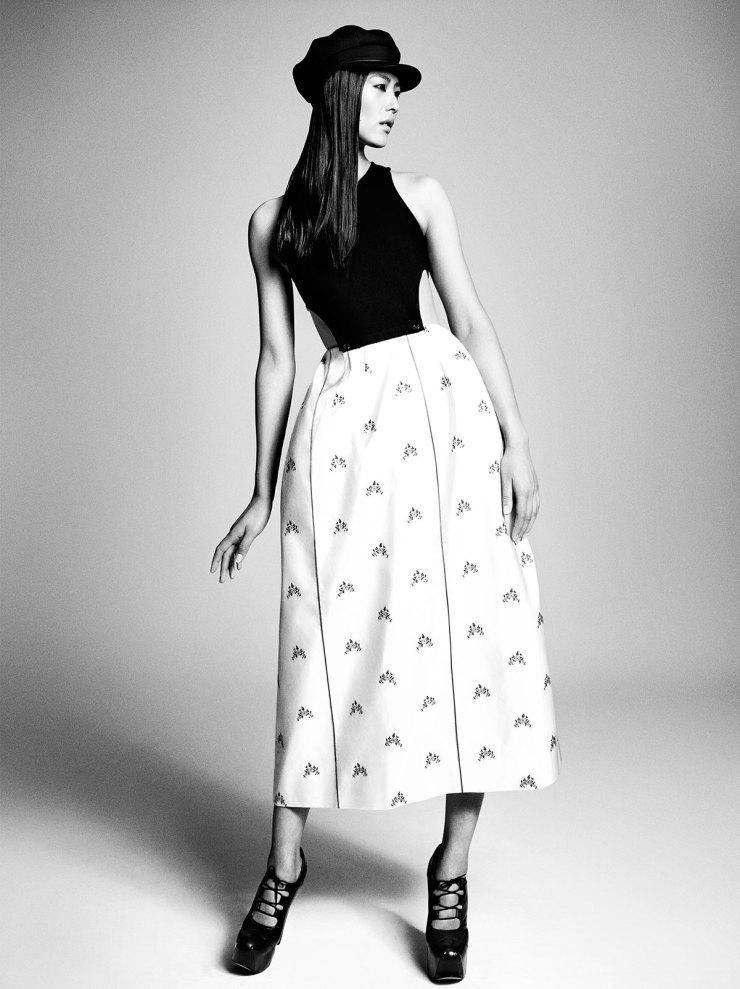 Liu Wen By Luigi Murenu & Iango Henzi for Vogue Japan April 2015 - Christian Dior