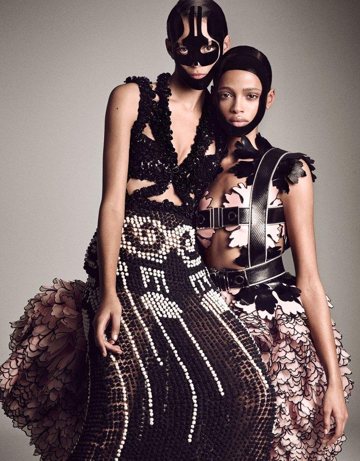Binx Walton and Aya Jones By Luigi Murenu & Iango Henzi for Vogue Japan April 2015