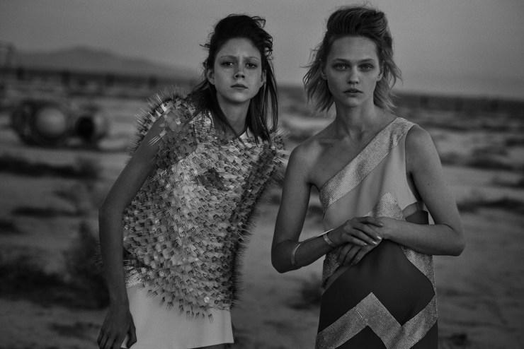 W Magazine March 2015 Apocalypse Now, Sasha Pivovarova, Natalie Westling, Peter Lindbergh (10)