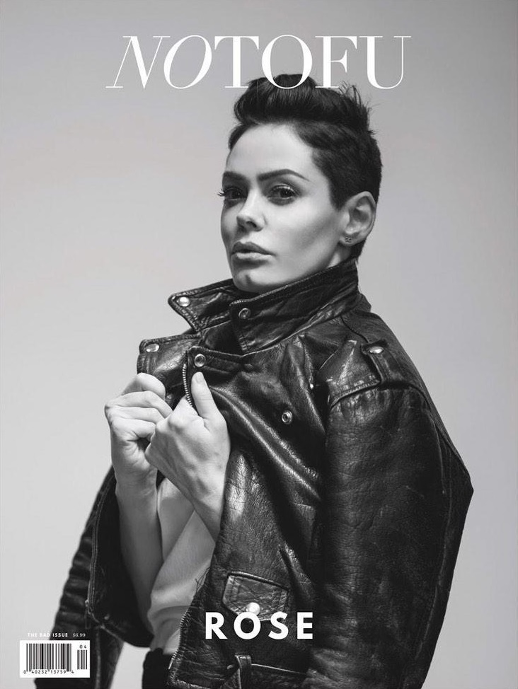 Rose McGowan Covers No Tofu Magazine Spring 2015 (1)