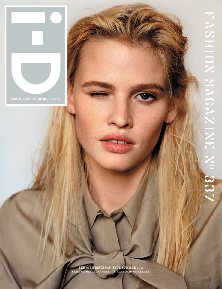 Lara Stone By Alasdair McLellan For i-D Magazine Summer 2015 Cover