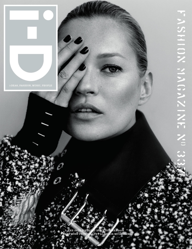 Kate Moss By Alasdair McLellan For i-D Summer 2015 Cover
