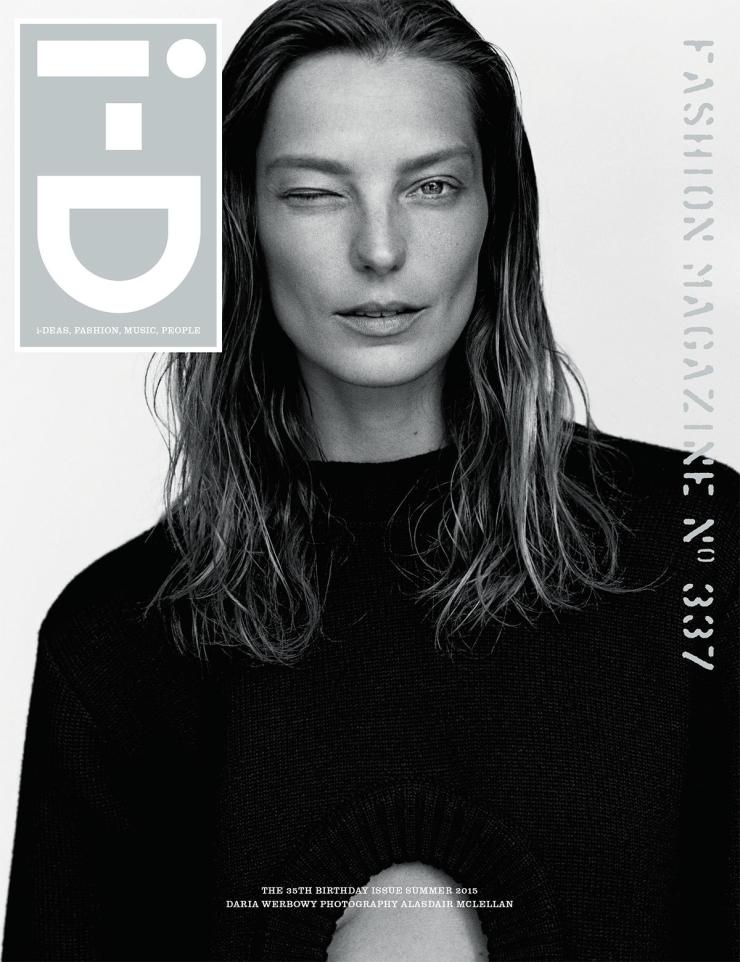 Daria Werbowy By Alasdair McLellan For i-D Summer 2015 Cover