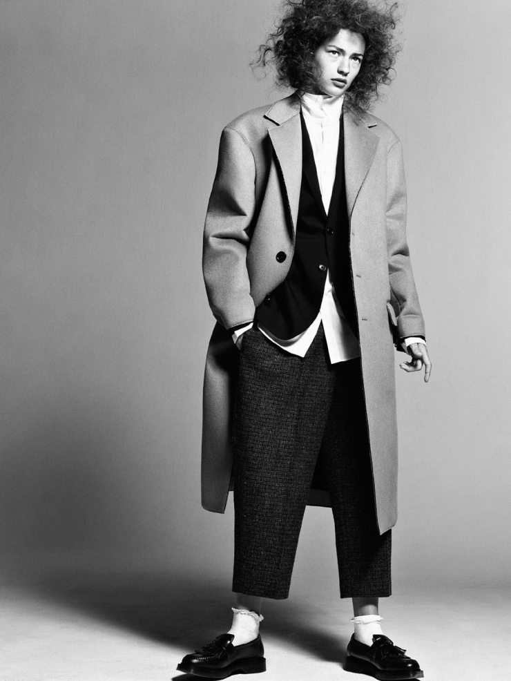 Vogue Paris August 2015: Like A Boy. Photographer: Christian MacDonald. Fashion Editor: Veronique Didry. Hair Stylist: James Rowe. Makeup Artist: Petros Petrohilos. Nail Artist: Charlene Cocquard