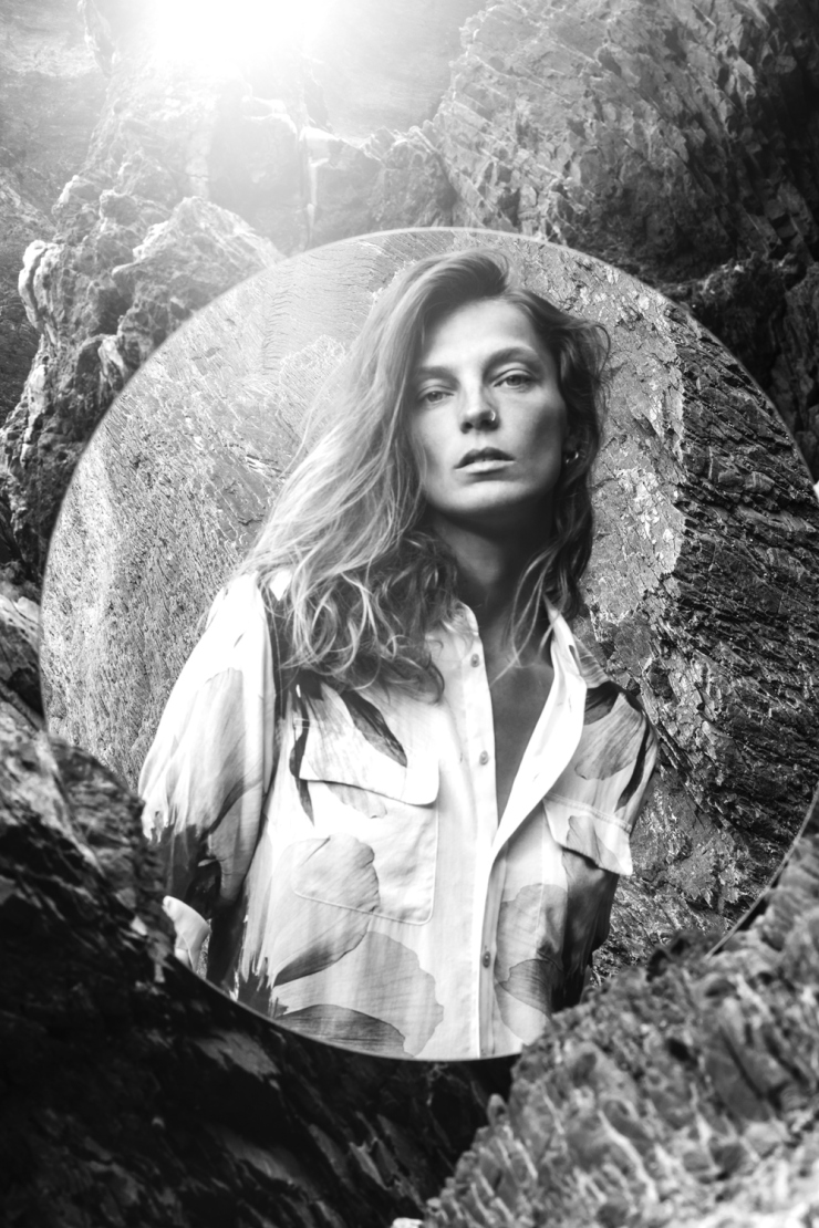 Daria Werbowy for Equipment Fall-Winter 2015-2016 Ad Campaign (3)
