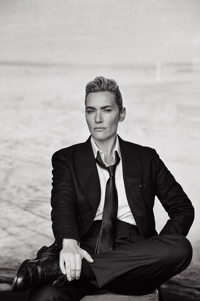 Androgynous Kate Winslet By Peter Lindbergh For L'uomo Vogue November 2015 (2)