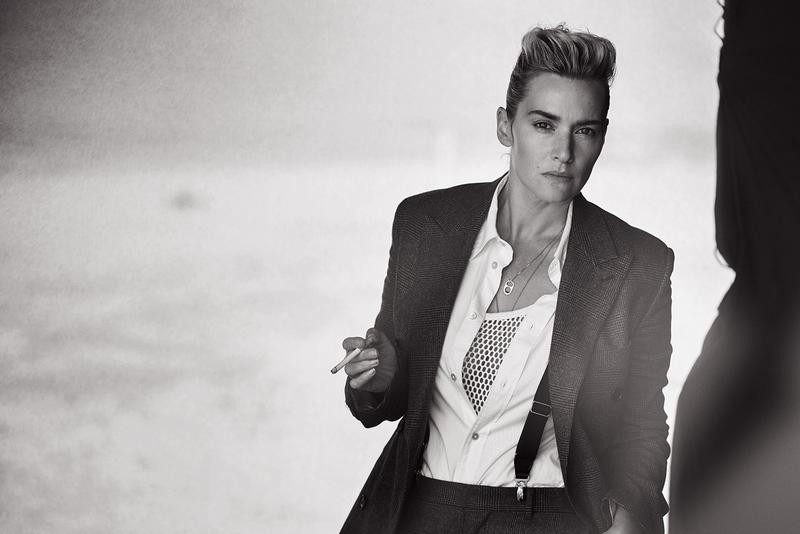 Androgynous Kate Winslet By Peter Lindbergh For L'uomo Vogue November 2015 (4)