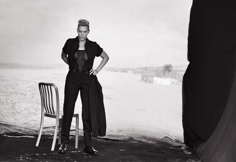 Androgynous Kate Winslet By Peter Lindbergh For L'uomo Vogue November 2015 (5)
