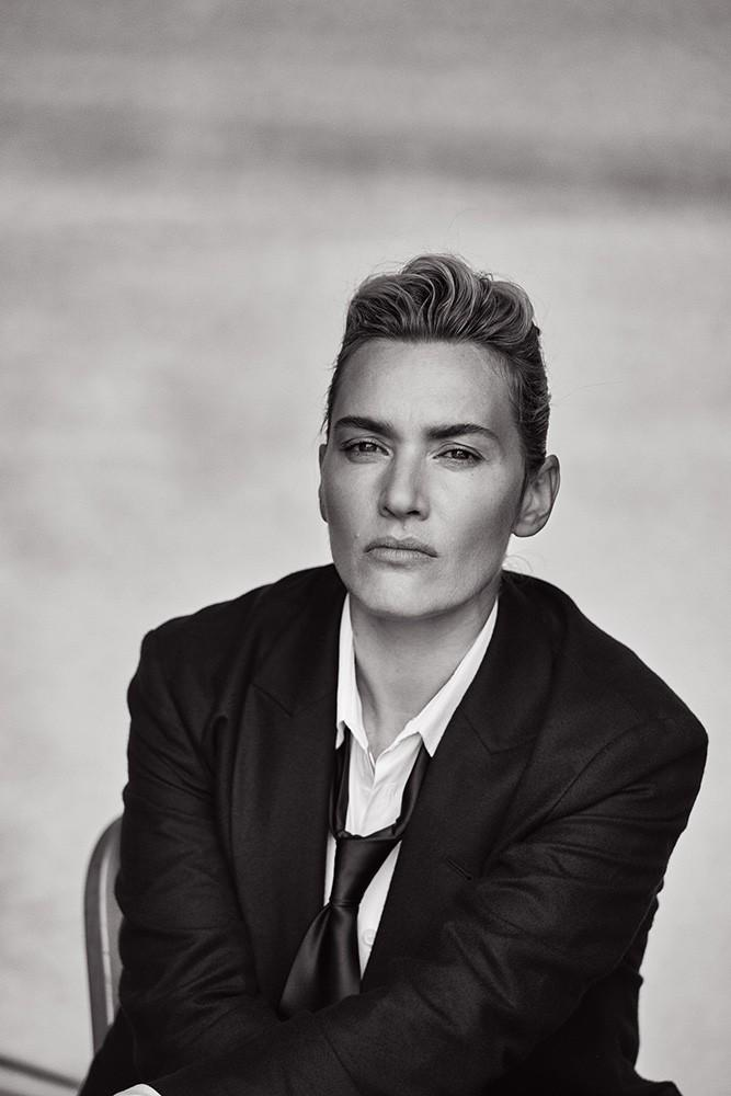 Androgynous Kate Winslet By Peter Lindbergh For L'uomo Vogue November 2015 (6)