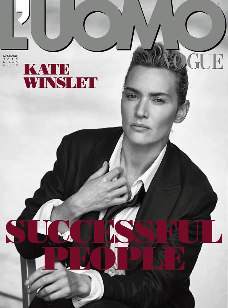 Androgynous Kate Winslet By Peter Lindbergh For L'uomo Vogue November 2015 (8)