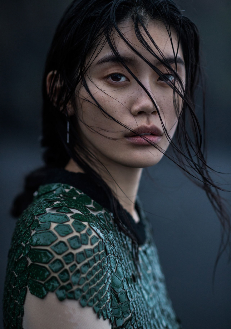 Ming Xi by Gilles Bensimon for Vogue China January 2016 (4)