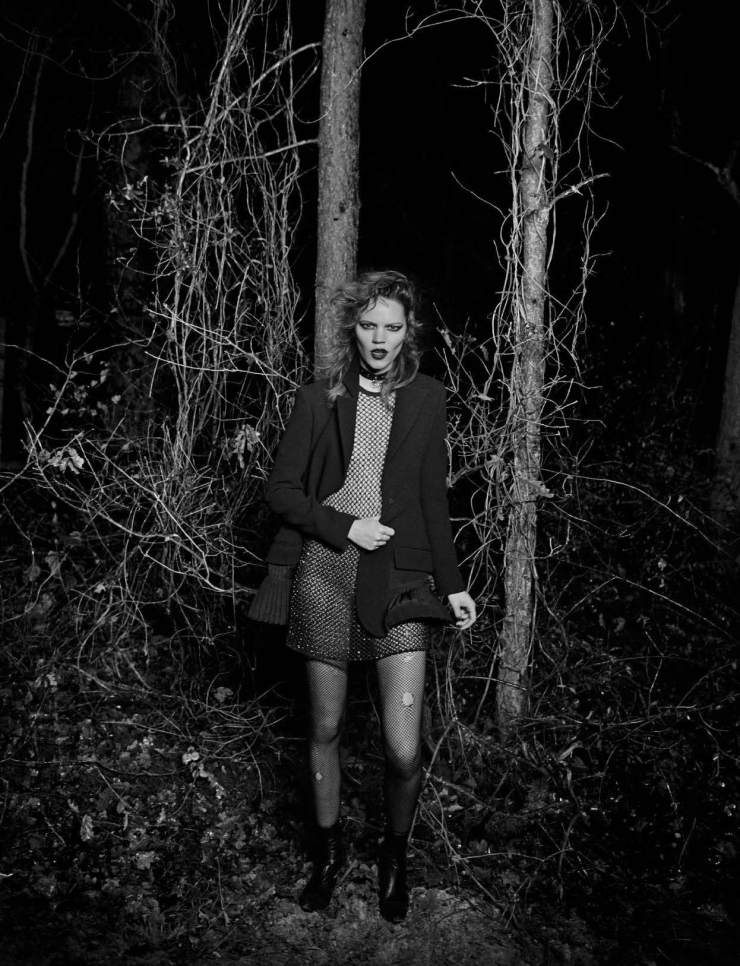 Freja Beha Erichsen by Peter Lindbergh for Vogue Italia January 2016 (6)