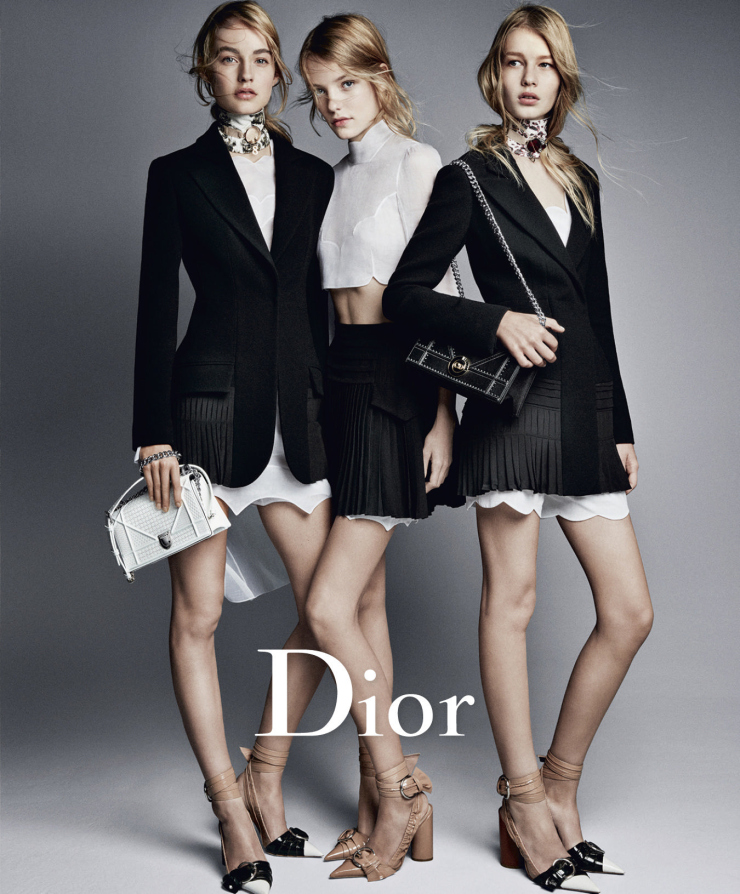 Roos Abels, Maartje Verhoef, Sofia Mechetner by Patrick Demarchelier for Dior Spring Summer 2016 (2)