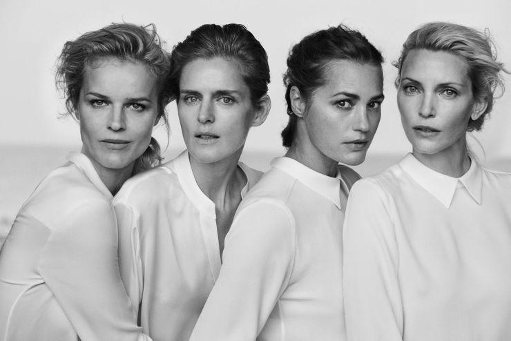 Giorgio Armani New Normal Spring-Summer 2016 Ad Campaign_Peter Lindbergh_Eva Herzigova, Nadja Auermann, Stella Tennant, Yasmin Le Bon (1)