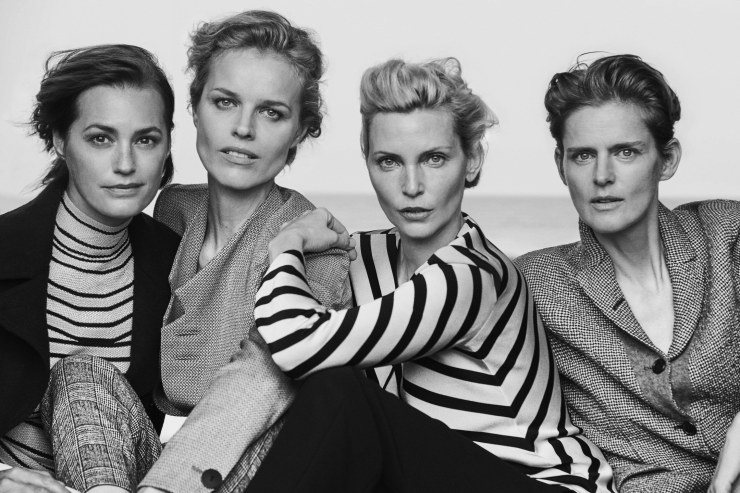 Giorgio Armani New Normal Spring-Summer 2016 Ad Campaign_Peter Lindbergh_Eva Herzigova, Nadja Auermann, Stella Tennant, Yasmin Le Bon (11)