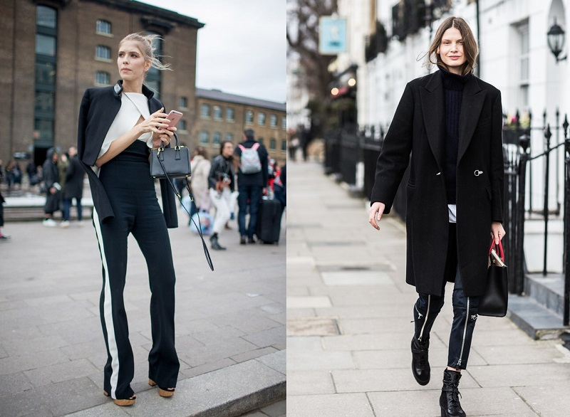 London Fashion Week Street Style Fall 2016 Black Jacket Minimal Visual