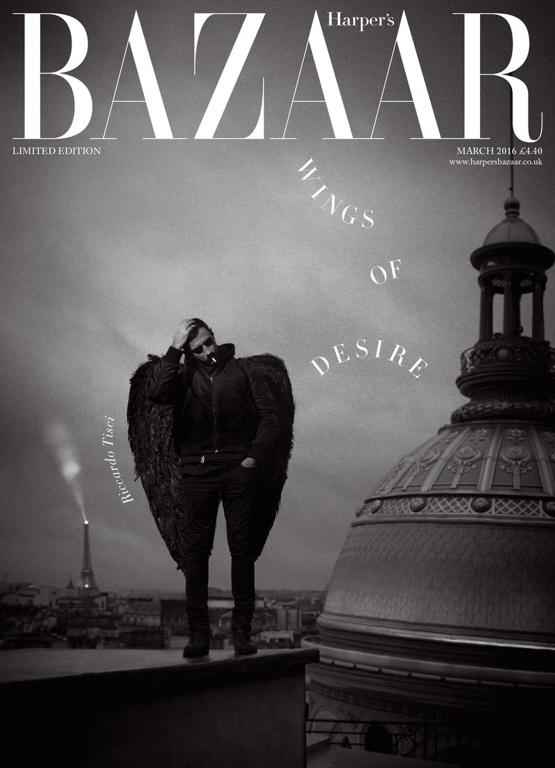 Riccardo Tisci For Harper's Bazaar UK March 2016 Limited Edition Issue Cover By Tom Craig (1)