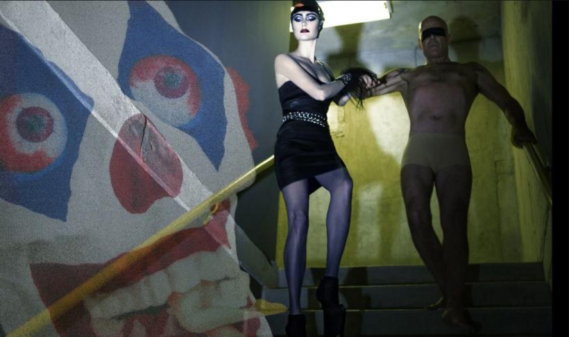 Emma Heming & Bruce Willis By Steven Klein For W Magazine July 2009 Honeymoon Hotel (6)