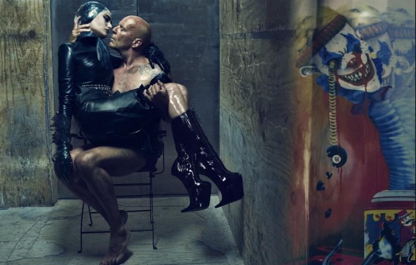 Emma Heming & Bruce Willis By Steven Klein For W Magazine July 2009 Honeymoon Hotel (7)