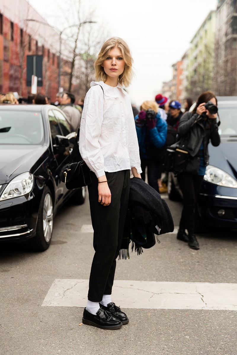 Milan Fashion Week Fall 2016 Street Style 11 Minimal Visual