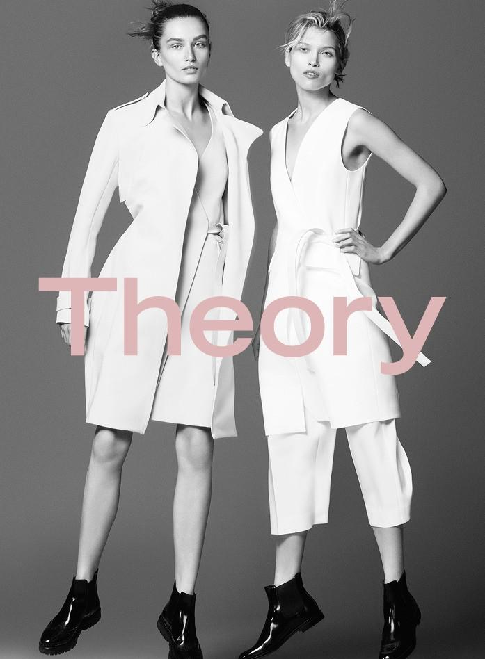 Andreea Diaconu, Hana Jirickova By David Sims For Theory Spring-Summer 2016 Ad Campaign (3)