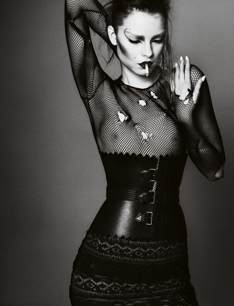 Gwen Loose by Txema Yeste For Virgine Magazine Spring-Summer 2011 Azzedine Alaia (2)