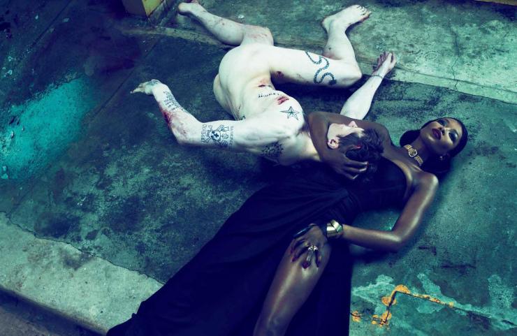 Naomi Campbell by Mert Alas and Marcus Piggott for Interview Magazine October 2010