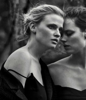 Lara Stone & Freja Beha by Peter Lindbergh for Vogue Italia May 2016