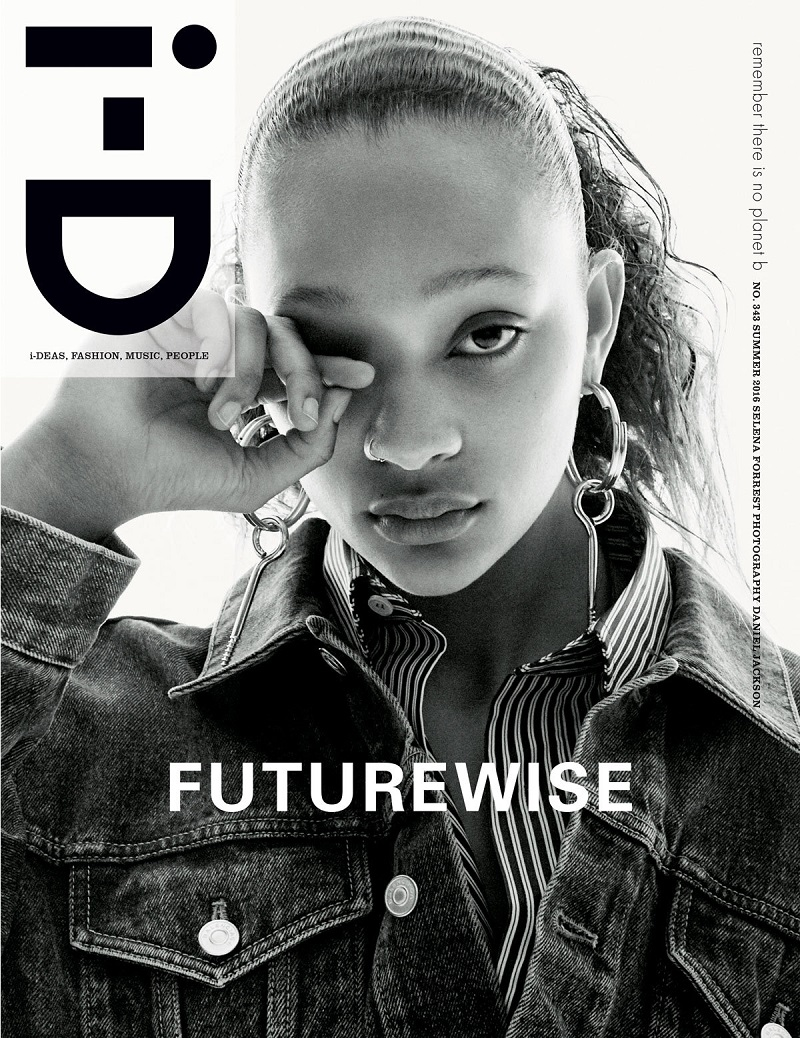Selena Forrest By Daniel Jackson For i-D Magazine Summer 2016 Cover. Selena wears Balenciaga Fall-Winter 2016.