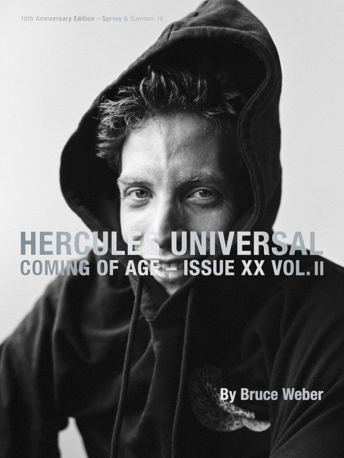 James Jagger by Bruce Weber for Hercules Magazine Spring-Summer 2016 Cover