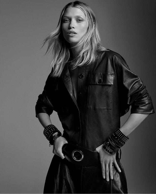 Hana Jirickova by Raf Stahelin for Porter Magazine Winter 2016 Black Leather