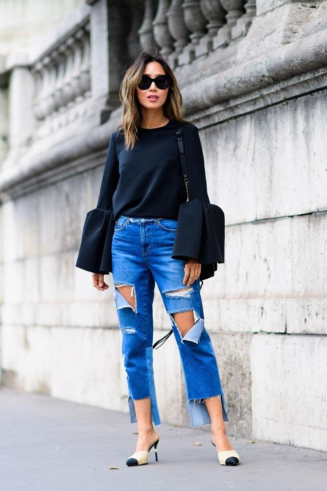 Paris Fashion Week Spring 2017 Street Style Pfw Ss17 6 Minimal Visual