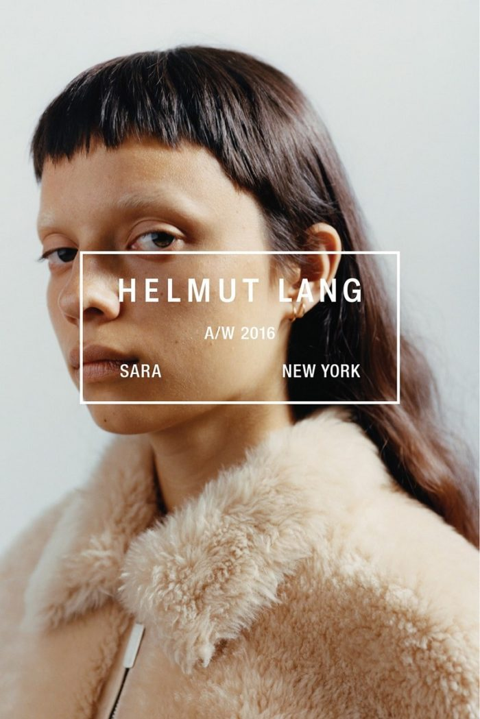 Helmut Lang Fall-Winter 2016-2017 Ad Campaign Theo Sion Sara Hiromi