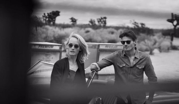 Amber Valletta and Alex Lundqvist By Peter Lindbergh For Oliver Peoples Spring-Summer 2017 Ad Campaign