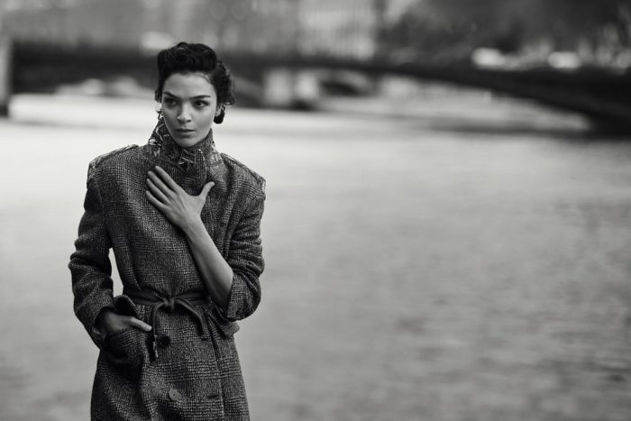 Mariacarla Boscono By Peter Lindbergh For Ermanno Scervino Fall-Winter 2017 Ad Campaign