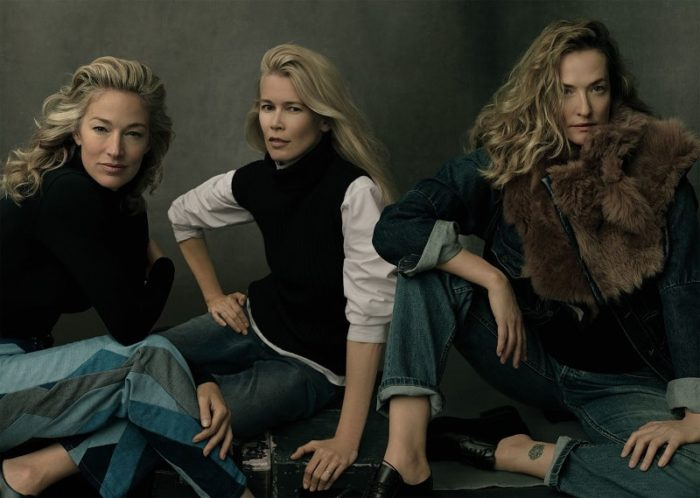Elaine Irwin, Claudia Schiffer, Tatjana Patitz by Annie Leibovitz For American Vogue September 2017