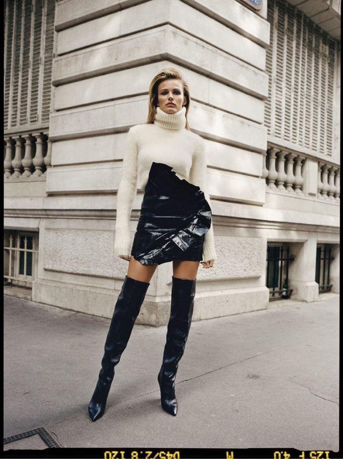 Edita Vilkeviciute by Quentin De Briey for The Edit Magazine October 2017 Fashion Noir Issue